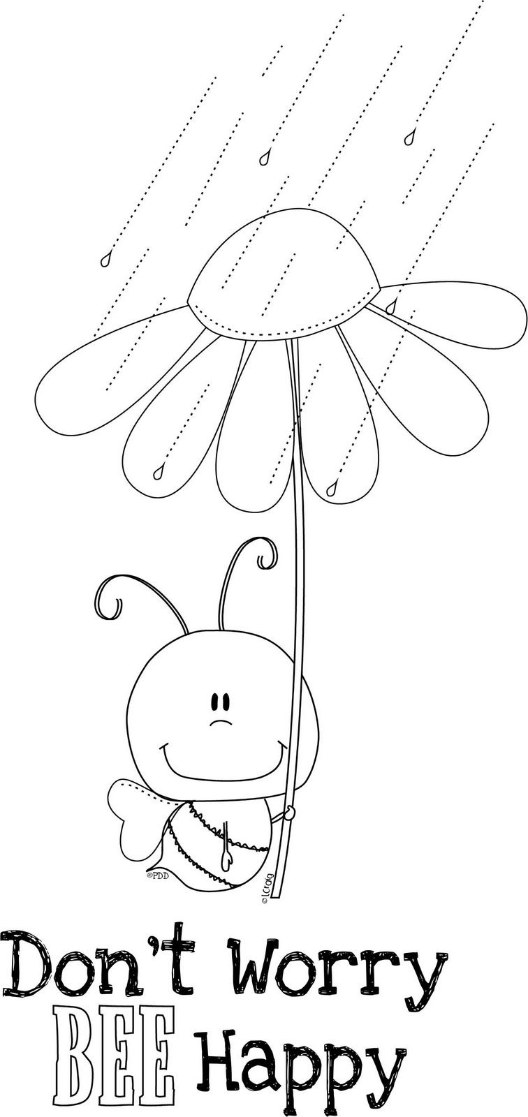 Sunflower For Kids Coloring We Will Bee Mr And Mrs Nartea Digi Stamps Doodle Designs Free Clip Art