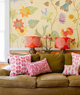 My Houzz An Antique Cape Cod House Explodes With Color Cool Color