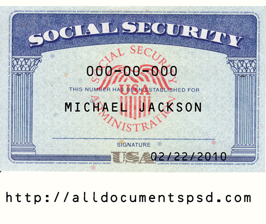 Social Security Card Template Psd Only 25 With Printable Social Security Card Template Free Social Security Card Card Templates Free Id Card Template