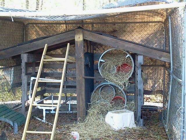 made from dog kennels used horse fence pallets rubber