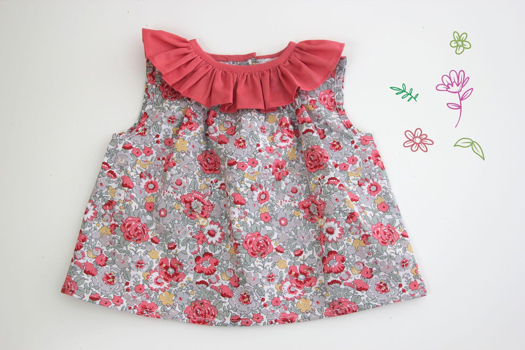 6f8d26610 DIY Como hacer blusa con volante para niñas (patrones gratis)     Oh,  Mother Mine DIY!!