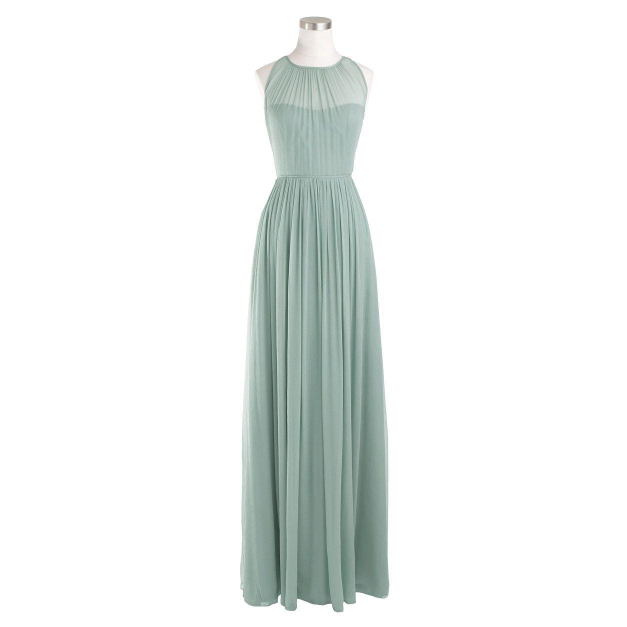 Megan long dress in silk chiffon : silk chiffon | J.Crew For Mom 365 ...