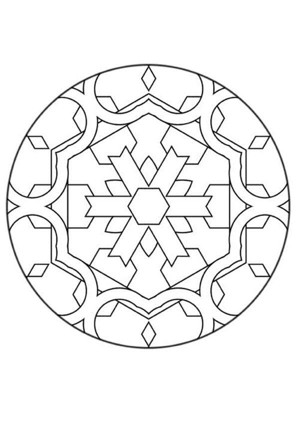 Mandalas Para Novatos Mandala Com Formas Geometricas Para