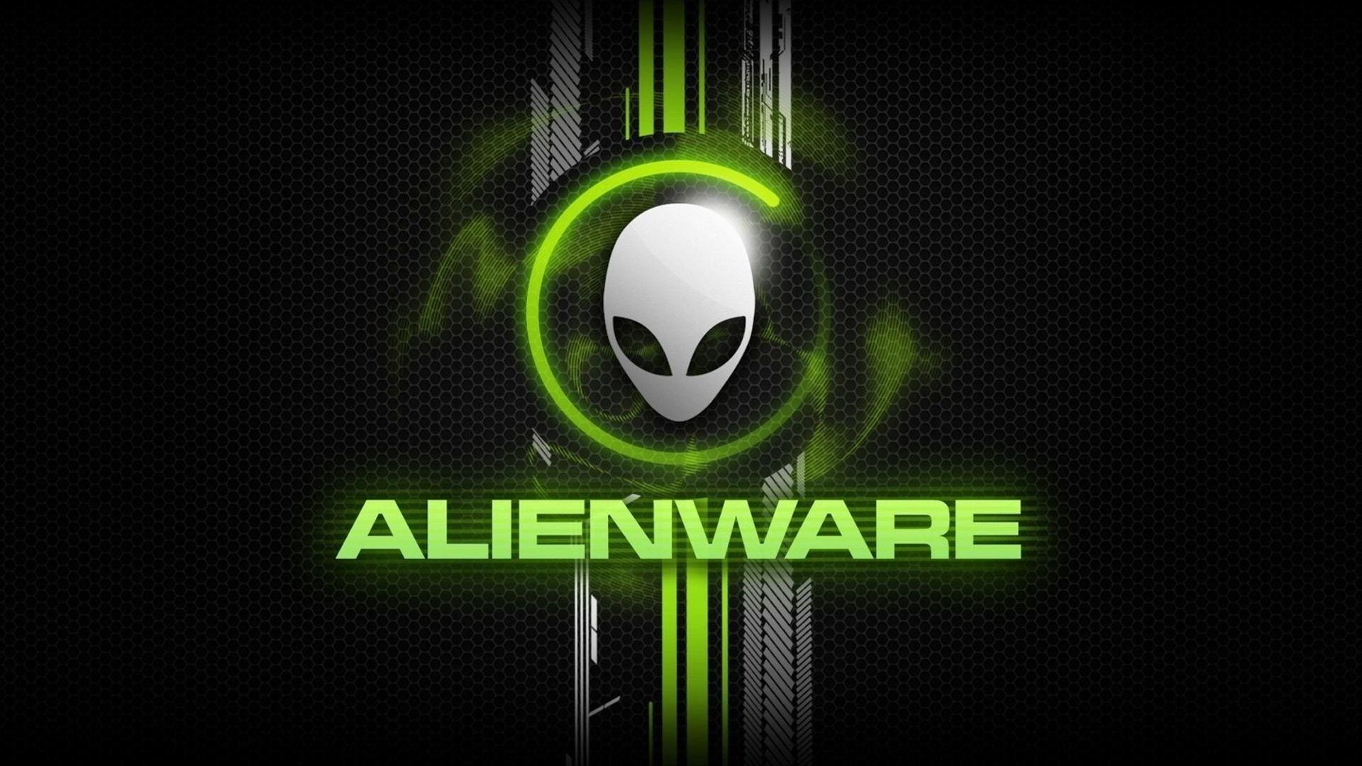 Alien ware green text logo hd wallpaper fondos de