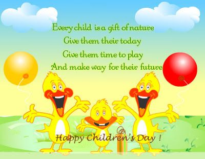 Childrens Day Thoughts In English Happy Children Day Childrens
