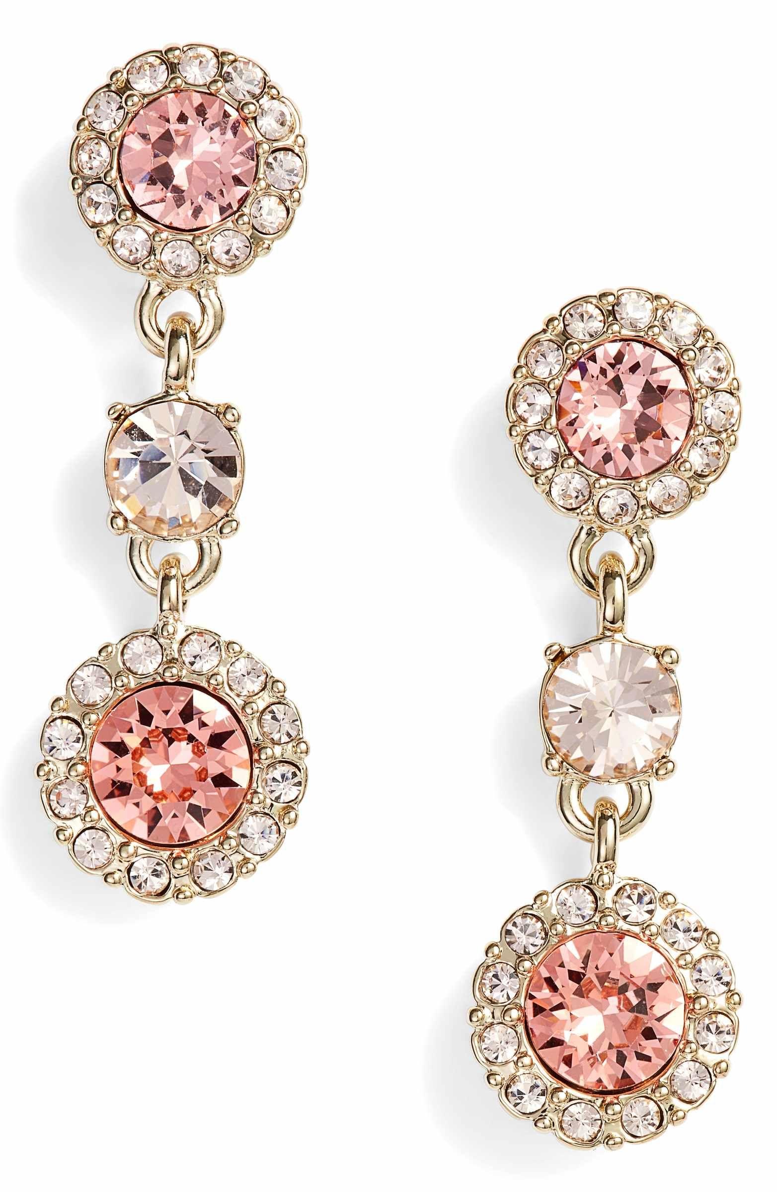 82418757b Main Image - Givenchy Swarovski Crystal Triple Drop Earrings ...