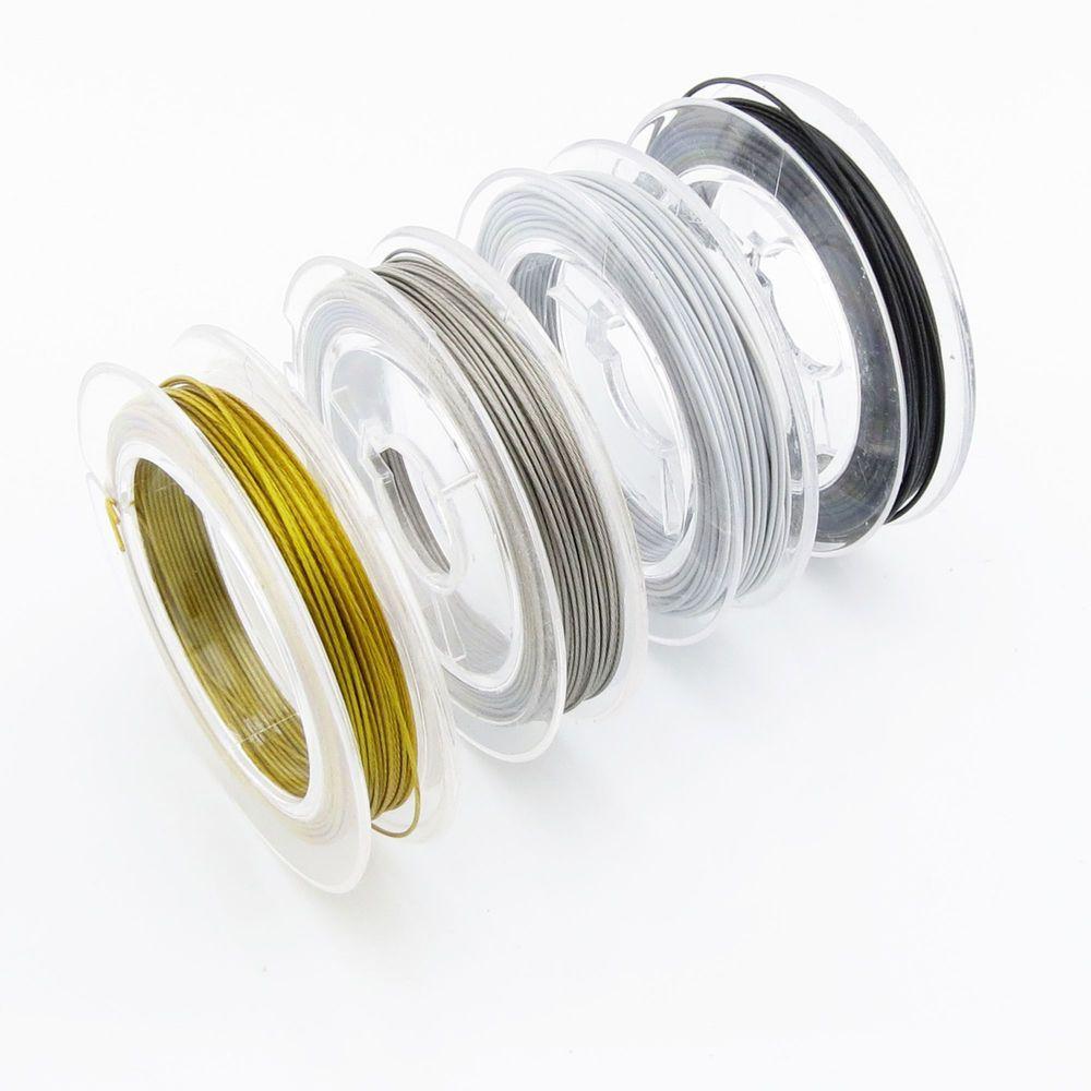 Details zu 10m Schmuckdraht 0,6mm (0,22€ pro m) weiß silber gold ...