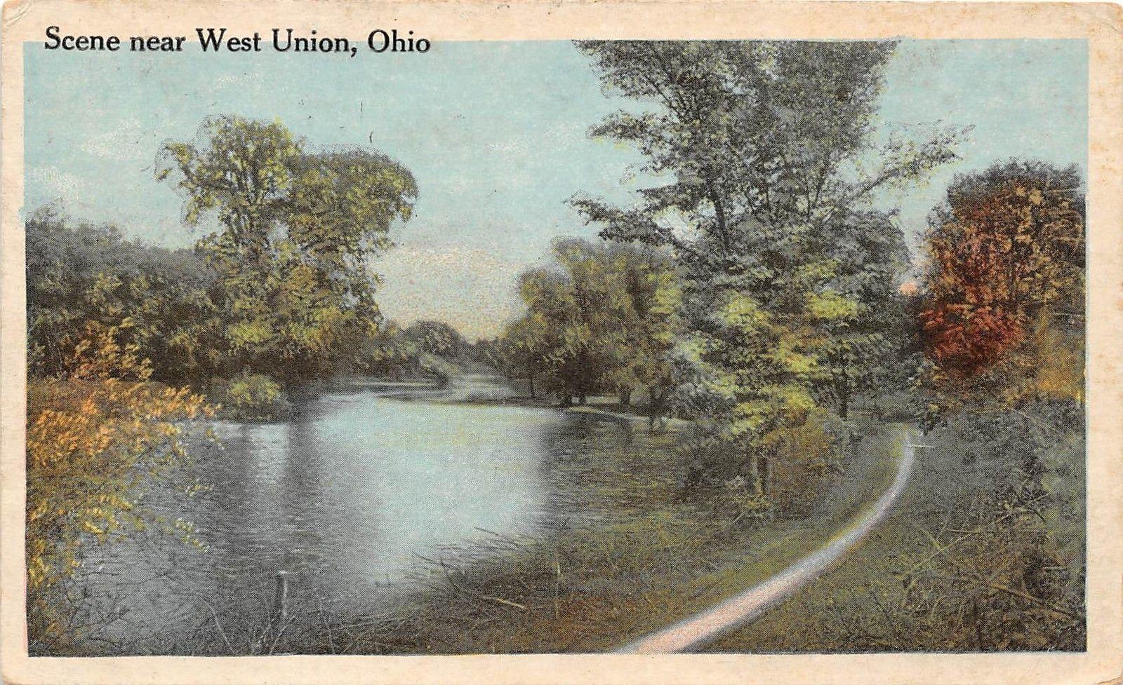 Ohio Postcard West Union Adams County Scene Near West Union Oh Year West Union Union Historical Place