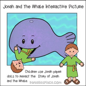 Jonah and the Whale interactive picture bible lessons for children - copy colouring pages of jonah and the whale