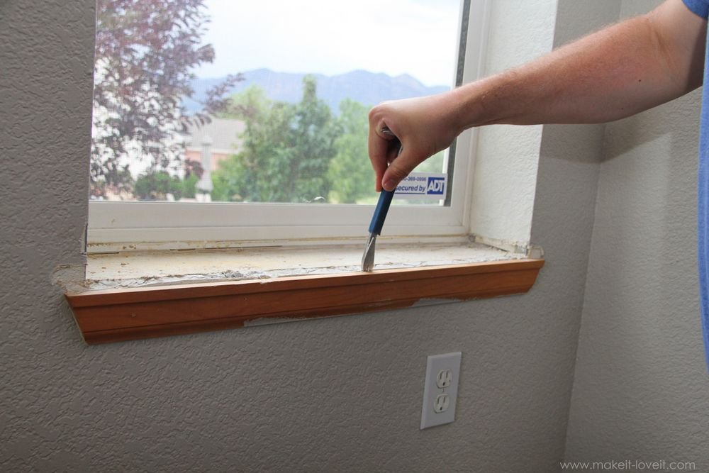 Home Improvement Trimming A Window Replacing The Sill Living Room Pinterest An Home