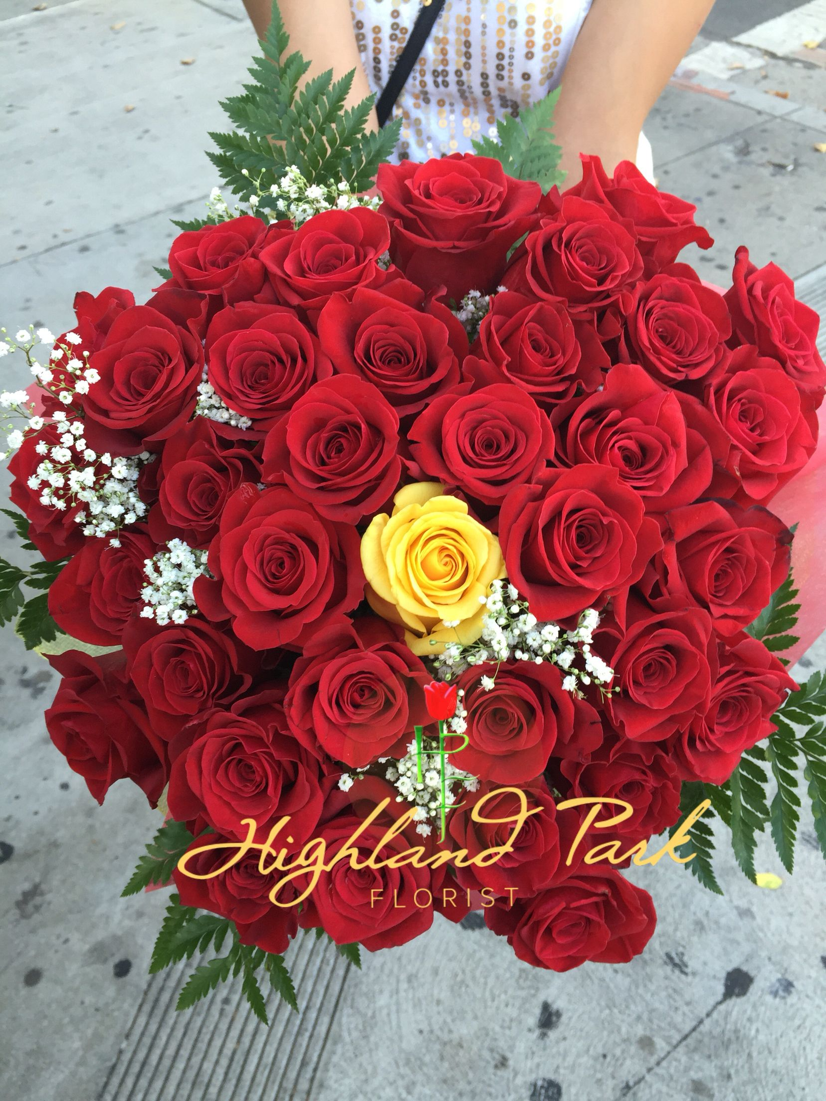 Custom 3 Dozen Rose Bouquet Made Here At Our Florist Wedding