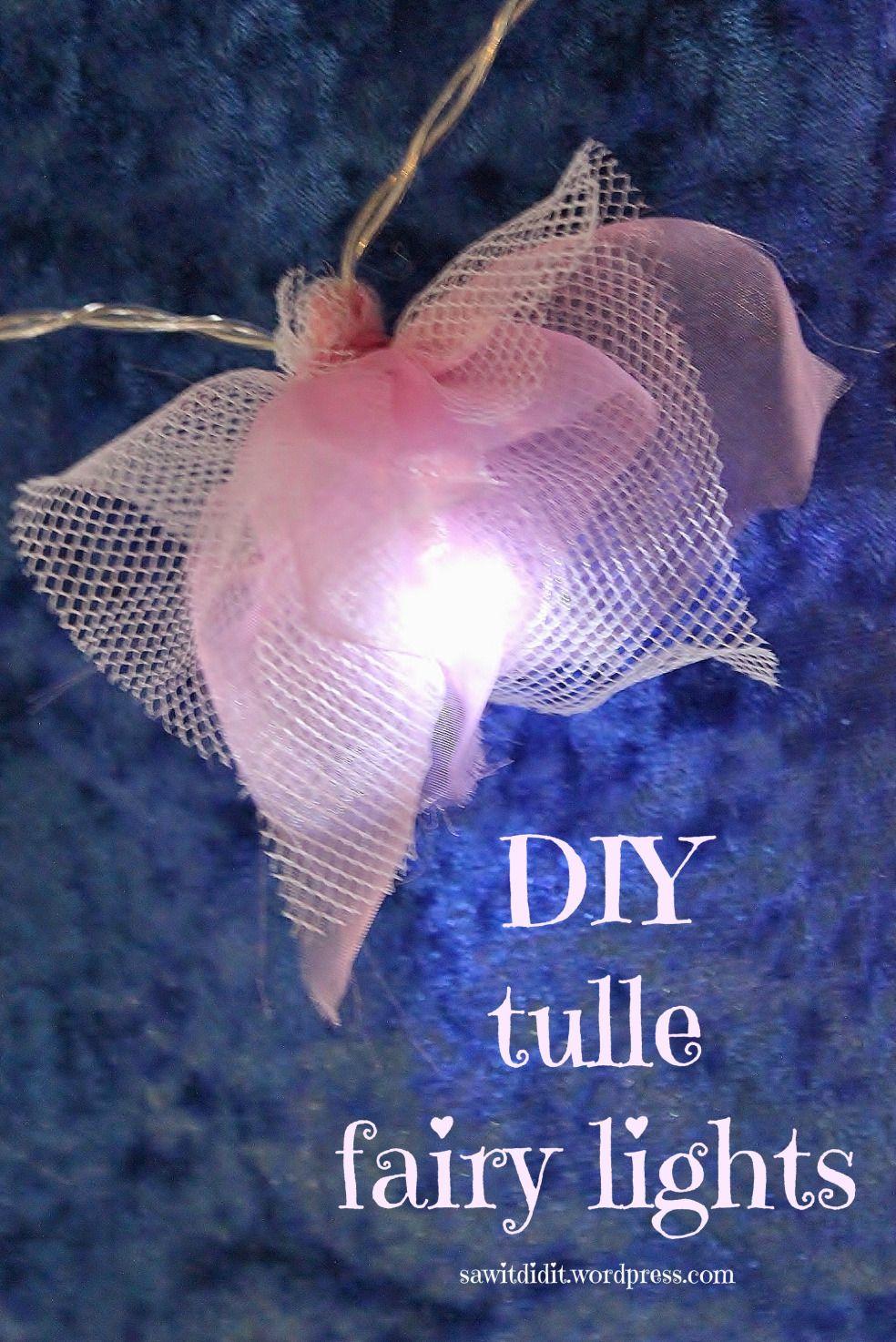 DIY Tulle Fairy Lights #fairylights