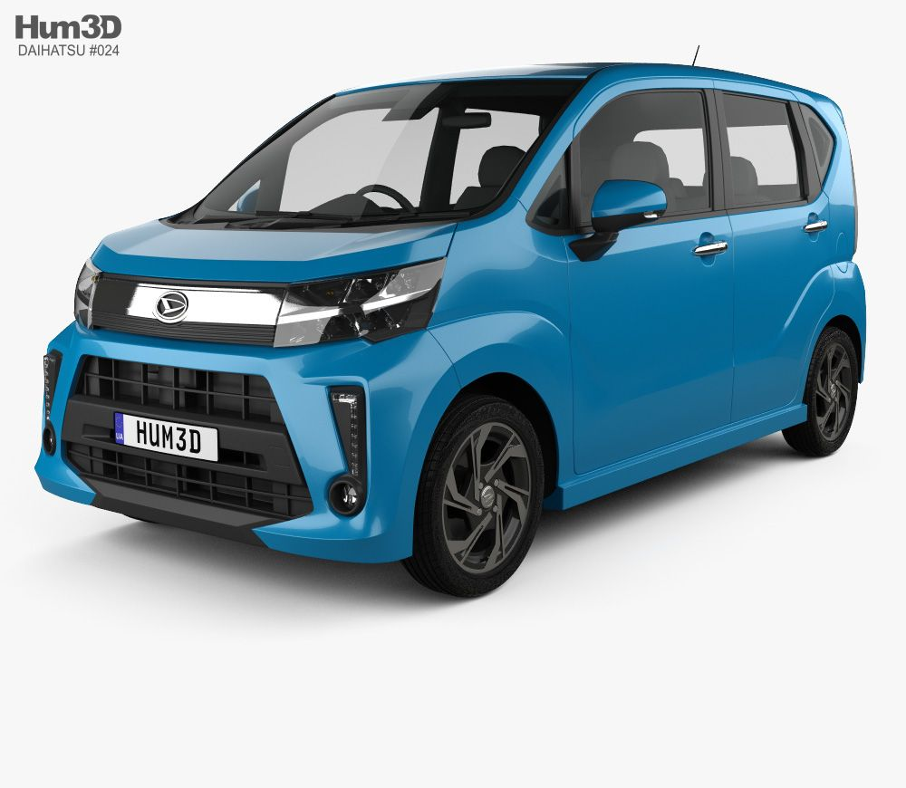 Daihatsu Move Custom Rs 2017 3d Model From Hum3d Com With Images