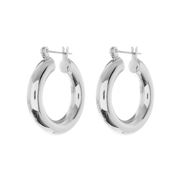 f97868ca4035b Baby Amalfi Tube Hoops- Silver (Ships Early April) | want | Silver ...