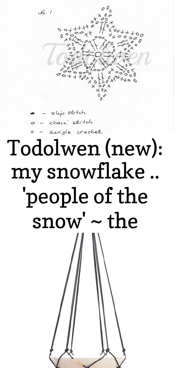 Todolwen (new): my snowflake .. 'people of the snow' ~ the tutorial .. 2 #hangersnowflake