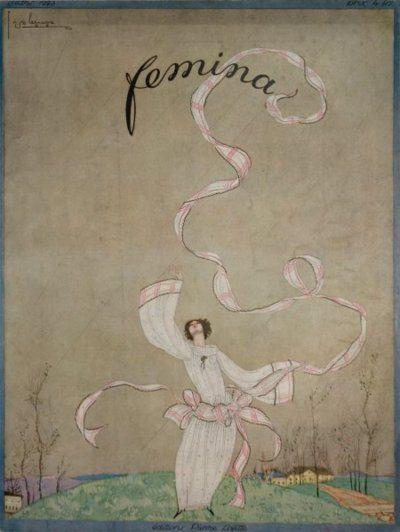 femina magazine, 1923. illustration by george lepape