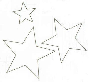 Moldes De Estrellas Moldes De Estrellas Decoraciones De Fiesta De Unicornio Manualidades