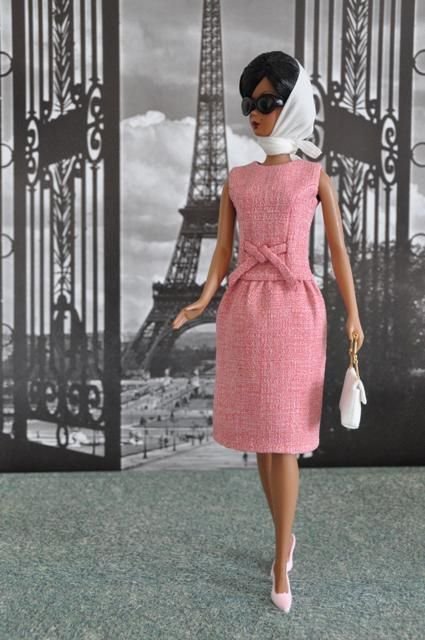 Jackie Kennedy Day Rose Dress for Silkstone dolls