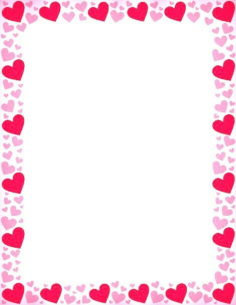 Heart Border Frame Pink Heart Borders And Frames Clip - Heart Frames For Photos