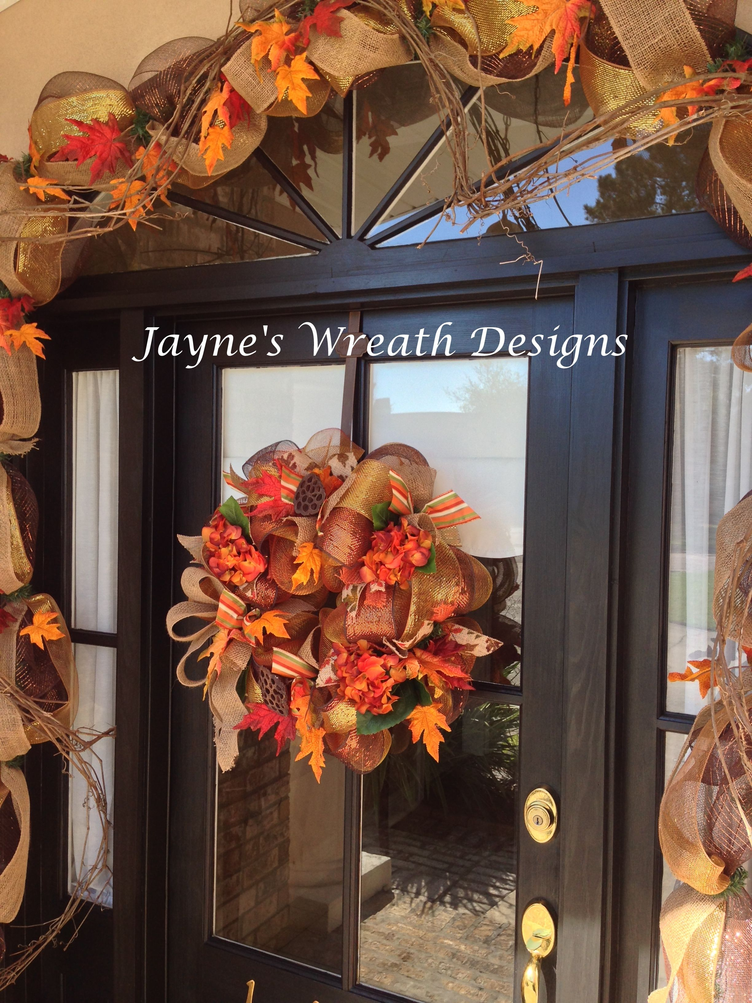 Decorazioni Per L Autunno fall/ autumn decorations - grapevine garland with browns