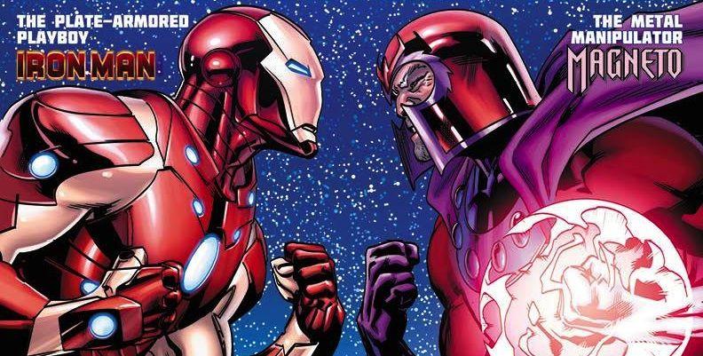 Znalezione obrazy dla zapytania marvel comics iron man and magneto