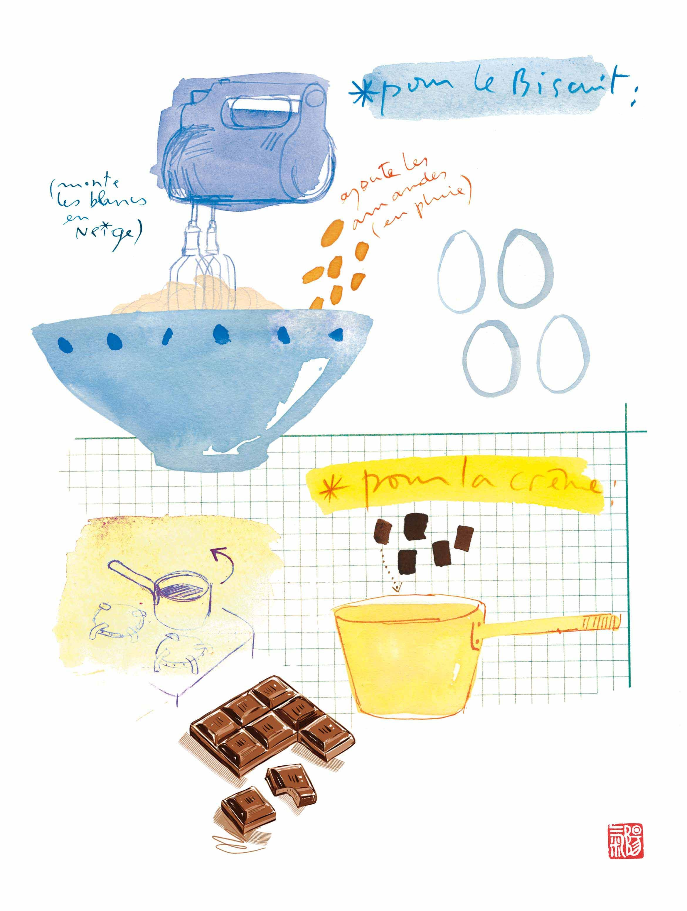 Chocolate Cake Recipe by Lucille Prache #   Recipe and Kitchen ...