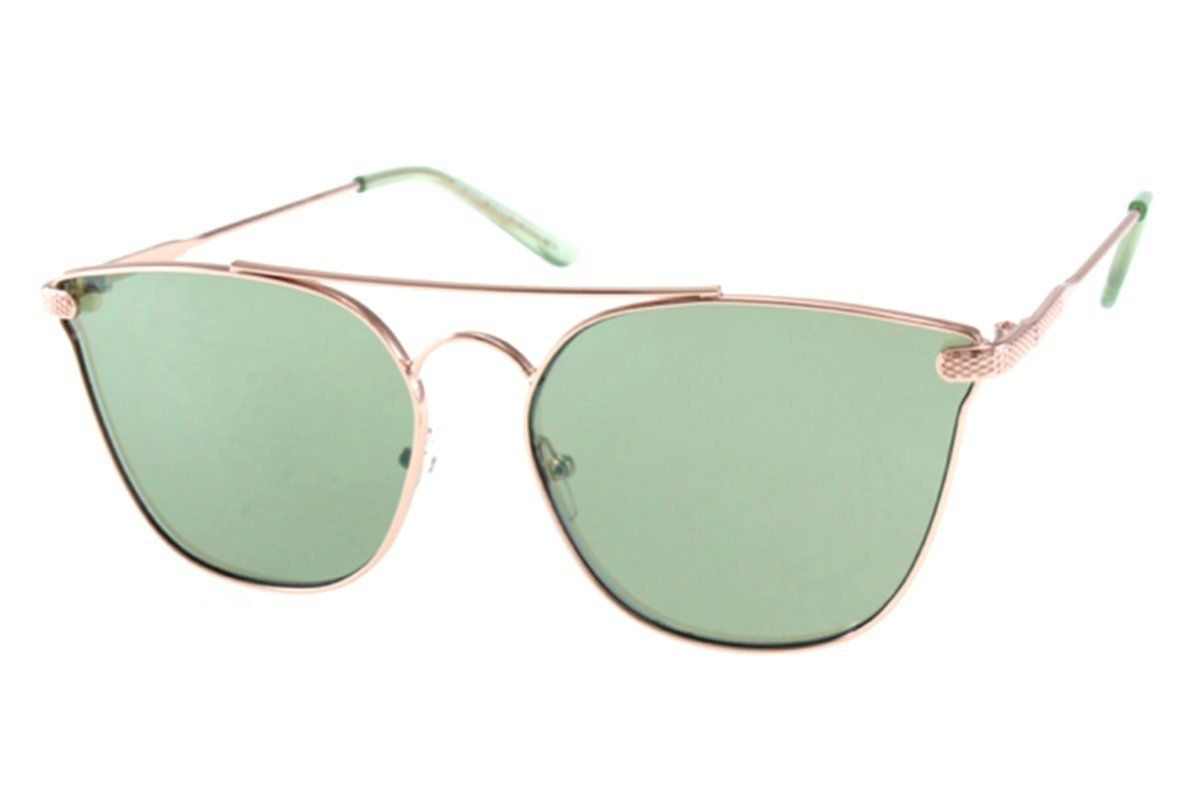 7f8f5fceb Womens Metal Cat Eye Green Mirror Sunglasses | Everything | Mirrored ...