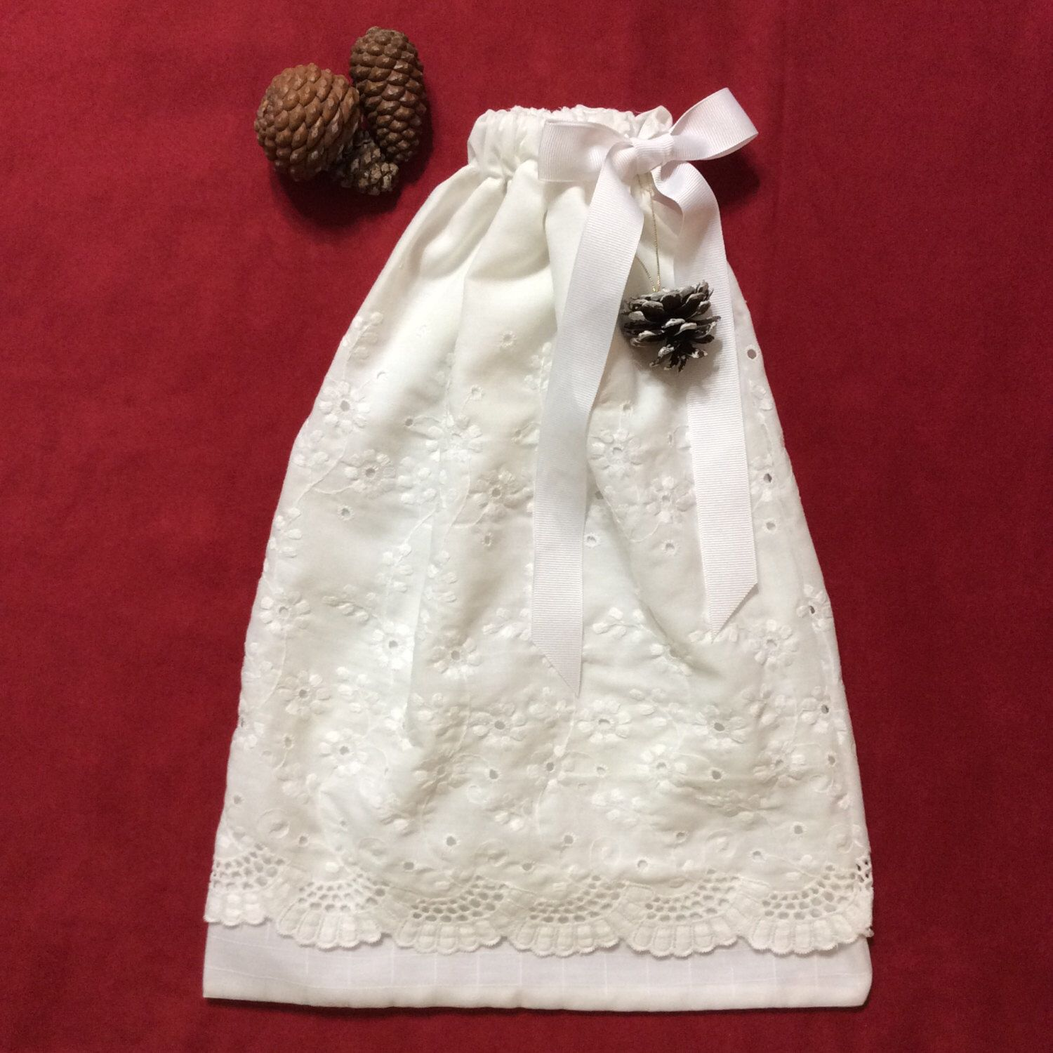 Fabric Gift Bags, White Gift Bag, Gift Bag to customize & decorate ...