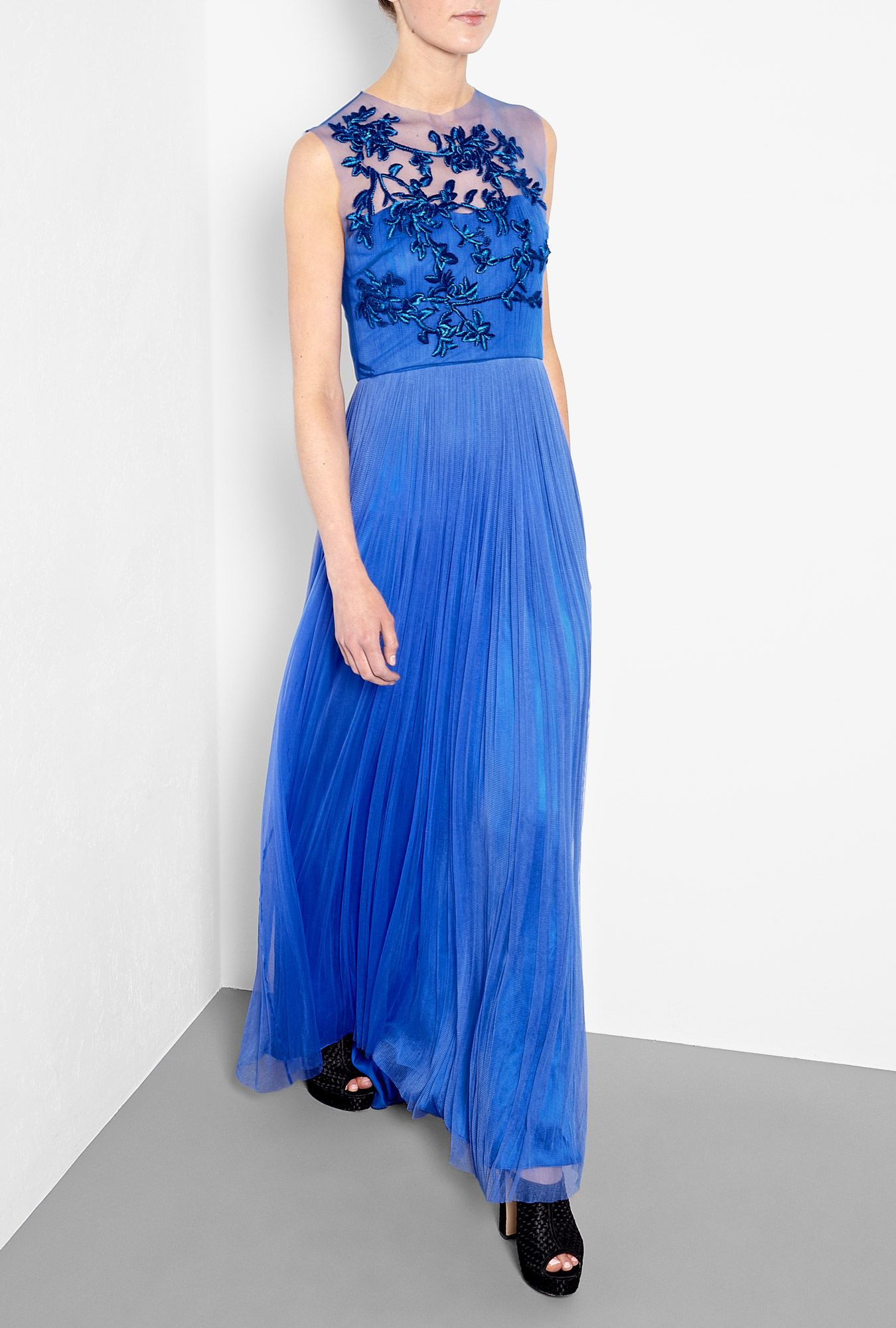 Leticia Embroidered Silk Gown by Catherine Deane