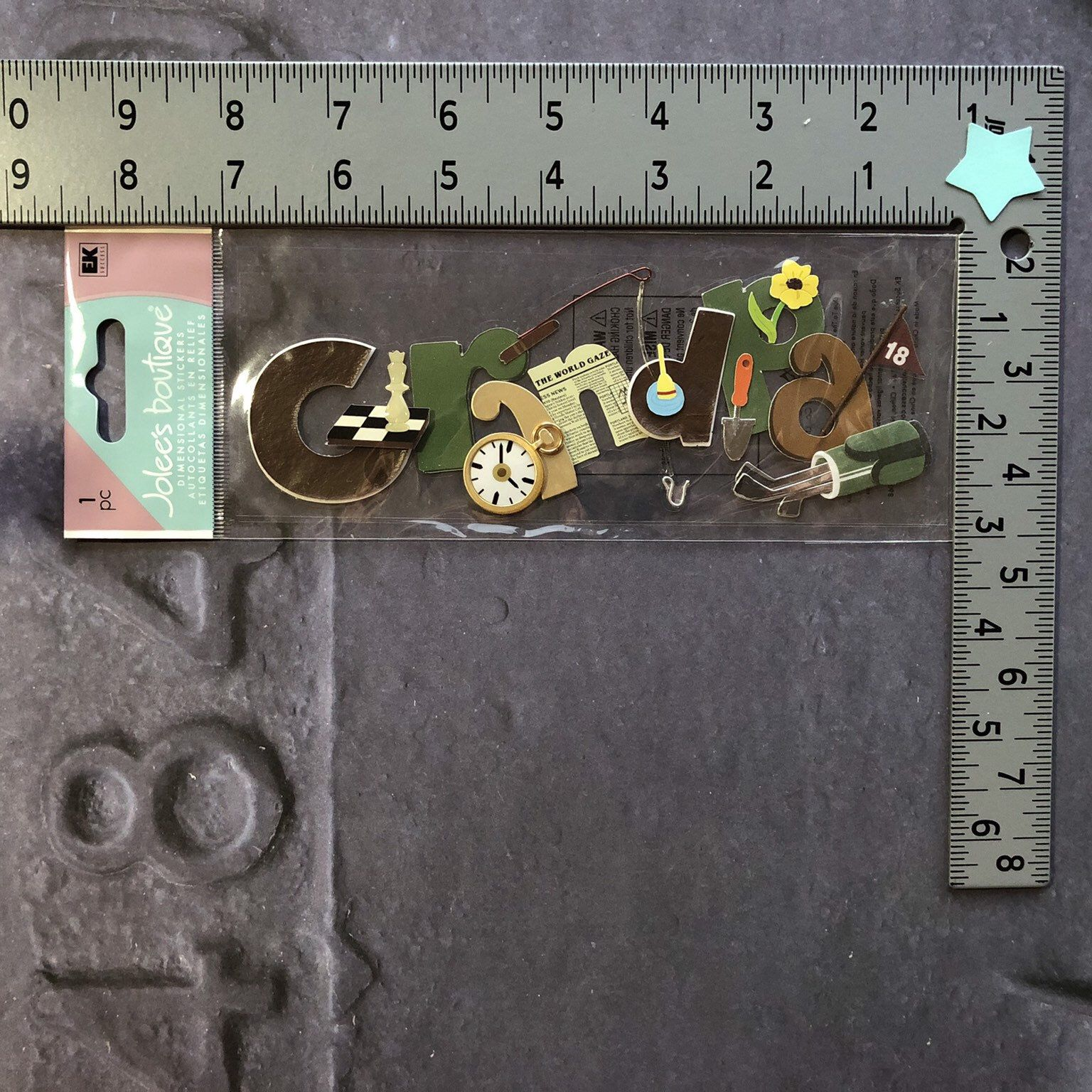EK Success Jolee/'s Boutique Dimensional Scrapbook Stickers,Title /& Embellishment