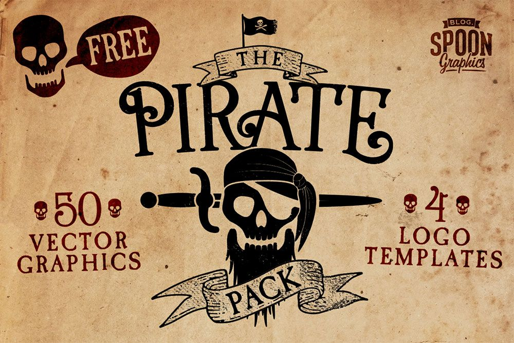Free Pirate Vector Graphics & Logo Templates Pack Logo