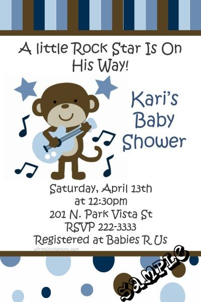 Monkey rock star baby shower invitations get these invitations monkey rock star baby shower invitations get these invitations right now design yourself online download and print immediately solutioingenieria Images