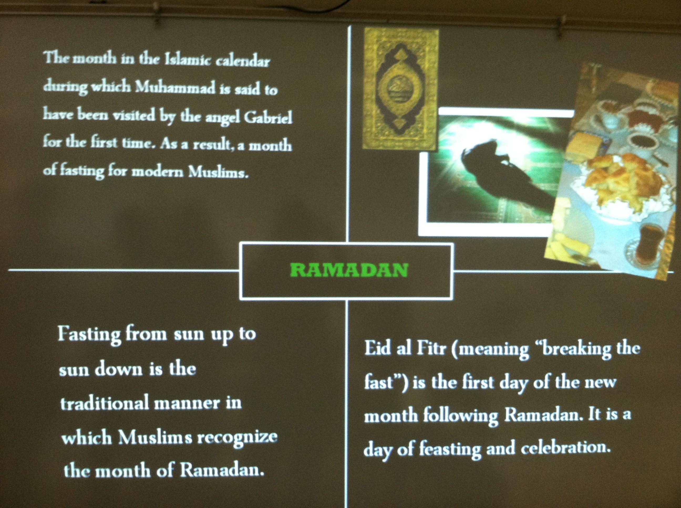 8th Grade Frayer Four Square Ramadan