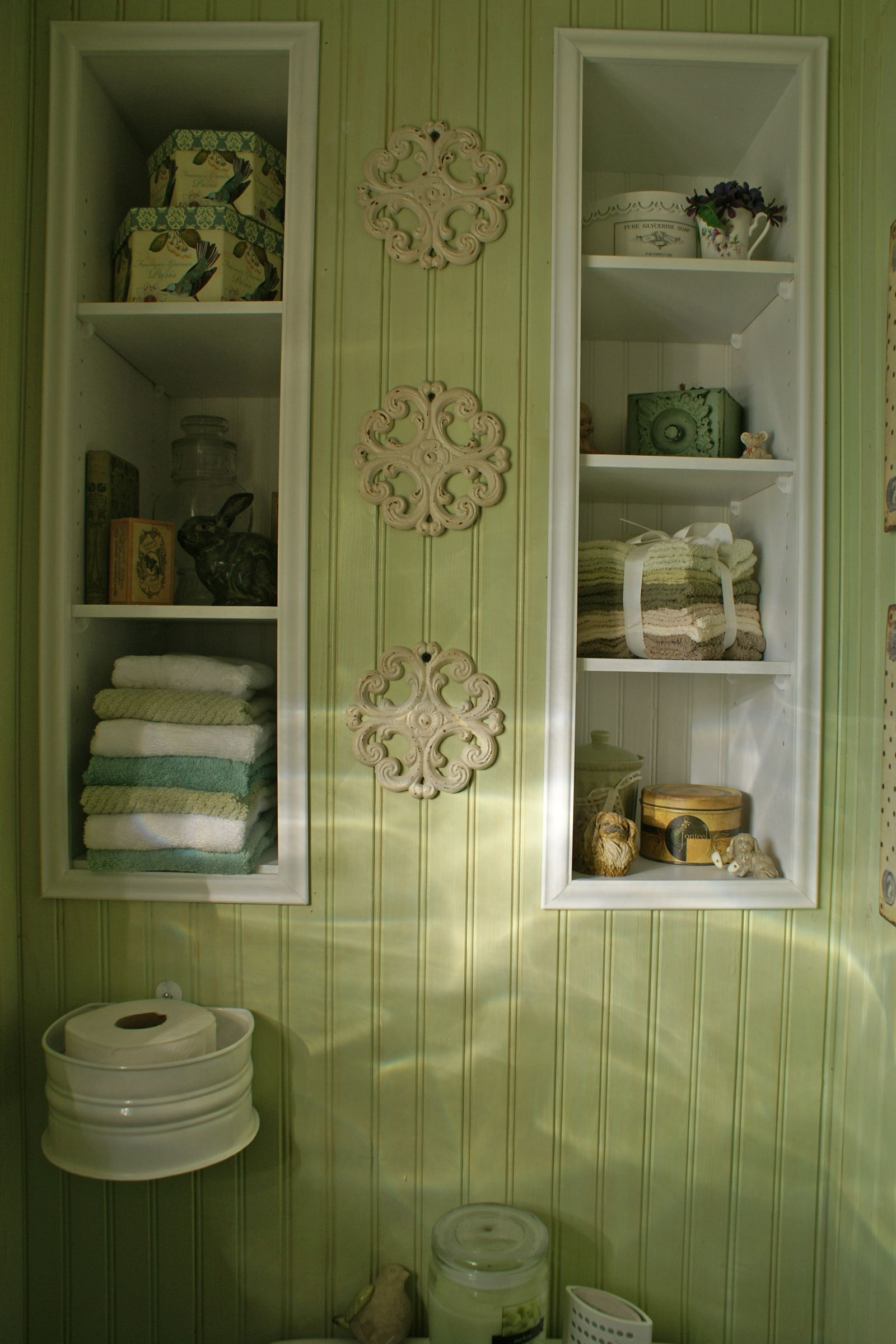 bathroom remodel added new recessed shelving above the on bathroom renovation ideas diy id=59394