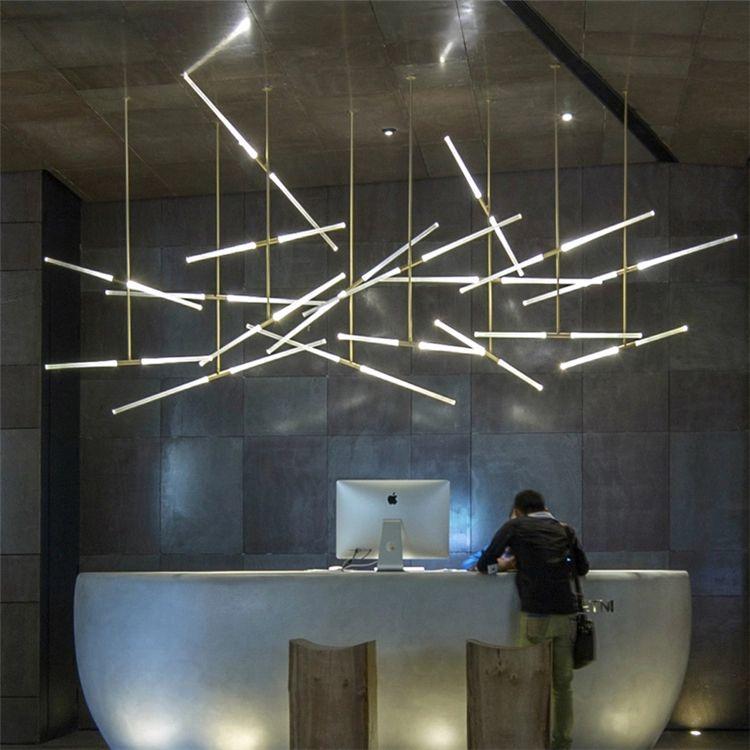 Modern LED Branch Pendant Light Restaurant Bar Lamp Nordic ...