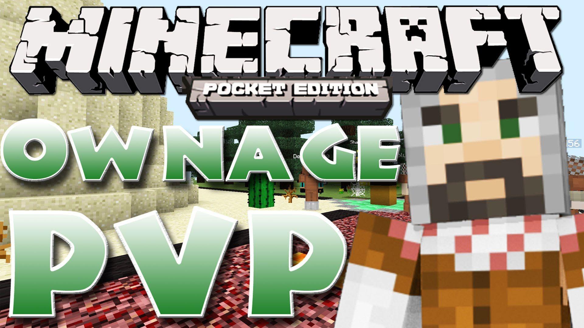 Minecraft Pe Ownage Pe Pvp Server Minecraft Pe Pvp Minecraft