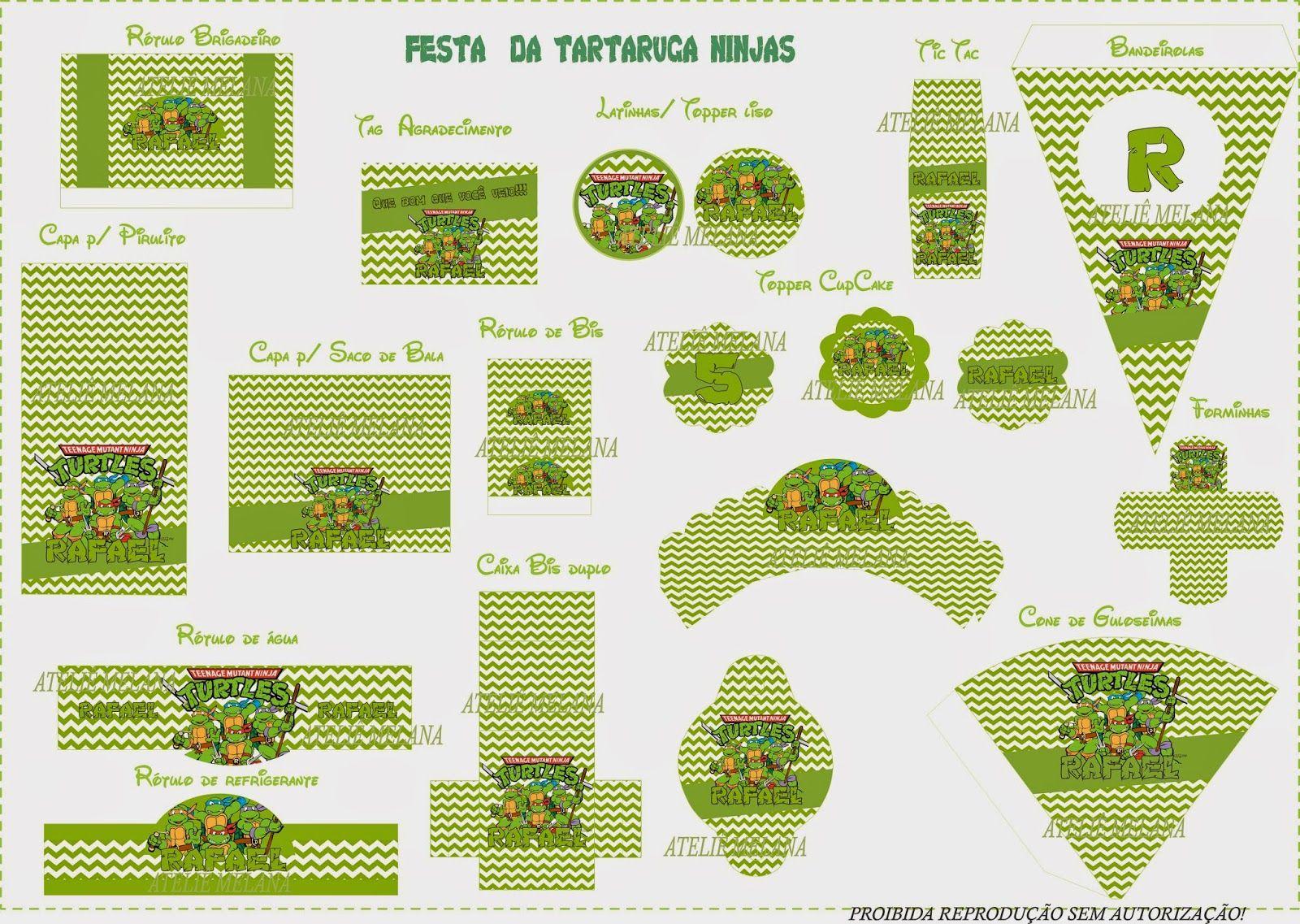Preferência Ateliê Melana: Festa As Tartaruga Ninjas | tartaruga ninja  PA92