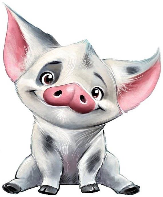 pua the pig moana cross stitch pattern disney cartoon cute