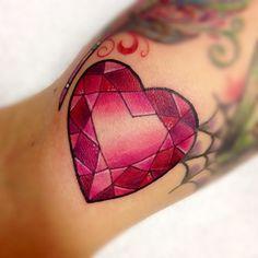 Ruby Heart In Diamonds Gem Tattoo Gemstones And Graphics Gem Tattoo Red Heart Tattoos Ruby Tattoo