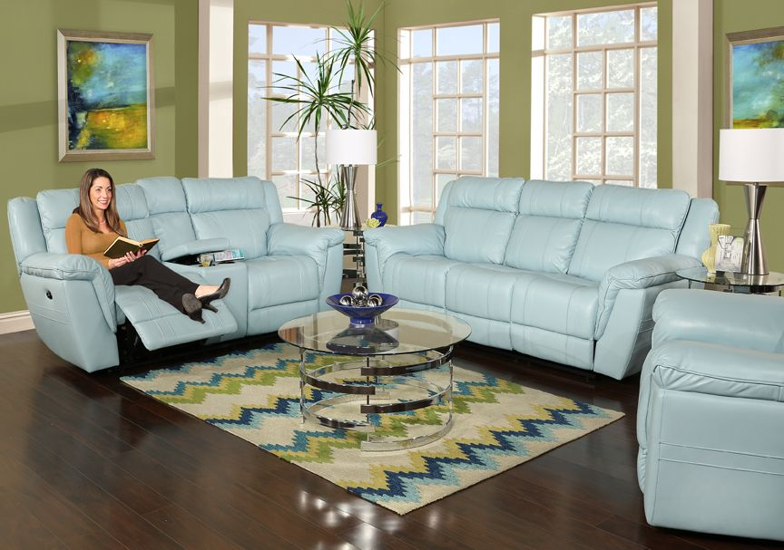 The Topsail 5 Piece Reclining Leather Living Room Consists Of A