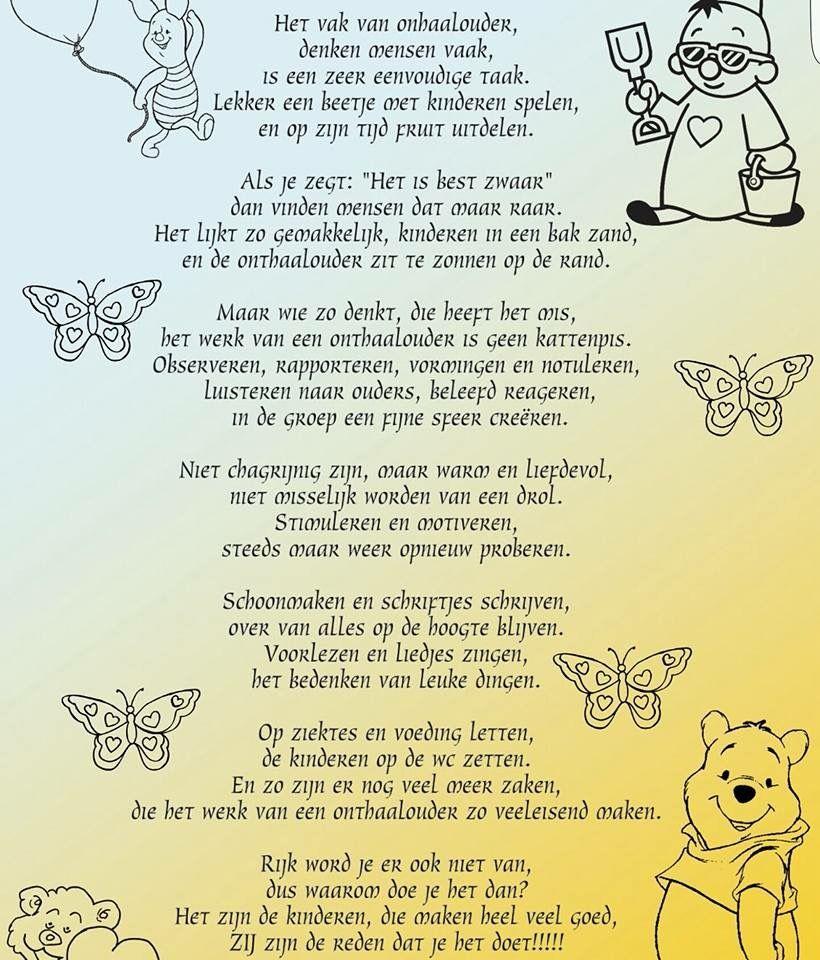 Pin Van Katia Van De Velde Op Spreuken En Gezegden Onthaalouders Kinderen Spelen Kinderen Bakken