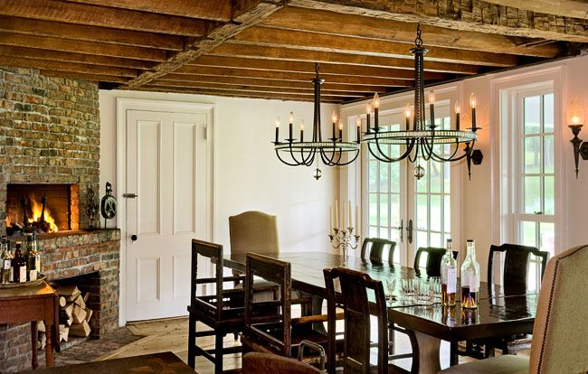 Low Ceilings Old Home No Problem Farmhouse Dining Room Farmhouse Dining Room Chandeliers Dining Room Chandelier