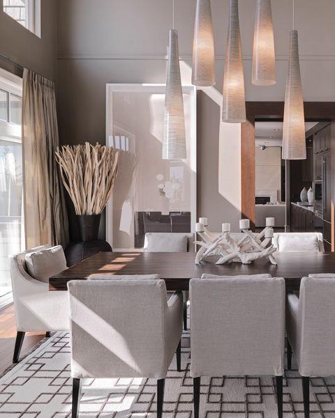 Modern Dining Room Ideas: The Room Has A Very Organic Feeling. I Love The Lighting