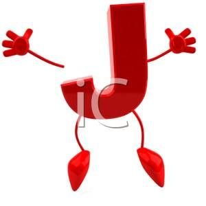 Jumping Red Letter J Royalty Free Clipart Picture J For Johnston