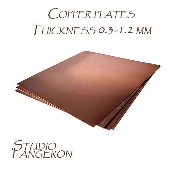 Natural Copper Sheets Thickness From 0 3 To 1 2 Mm Size 10h10 And 20h20 Cm Natural Copper Copper Copper Plates Sheets Copper 1 Piece Jewelry Making Supplie