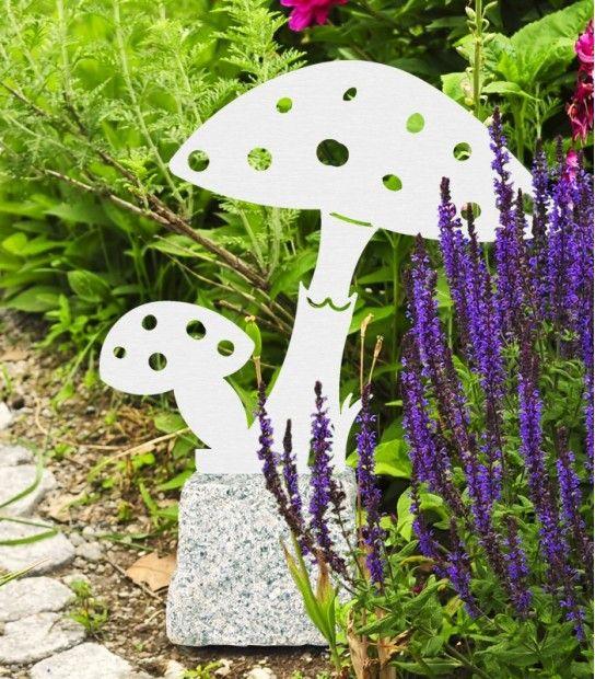 Gartenfigur Fliegenpilz Pilze Edelstahl Deko Garten Von Heibi