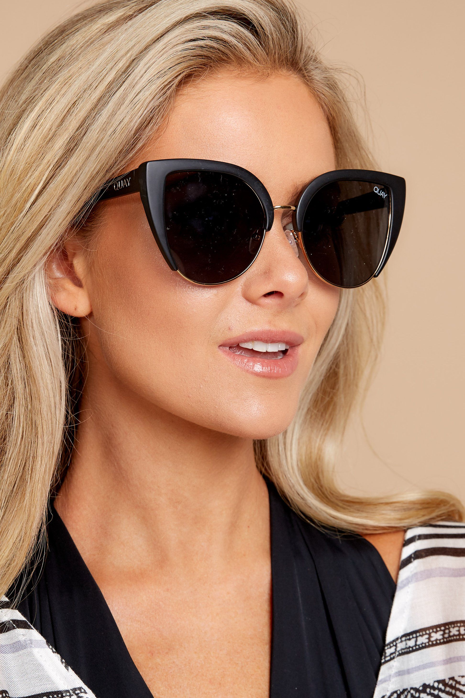 4f070857e1 Quay Australia Oh My Dayz Black Sunglasses - Trendy Sunglasses - Sunglasses  -  60.00 – Red Dress Boutique