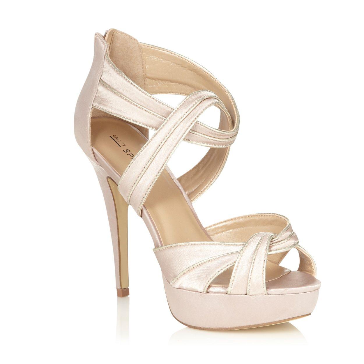 Women's sandals debenhams - Call It Spring Light Pink Textured Strapped High Heeled Sandals At Debenhams Com