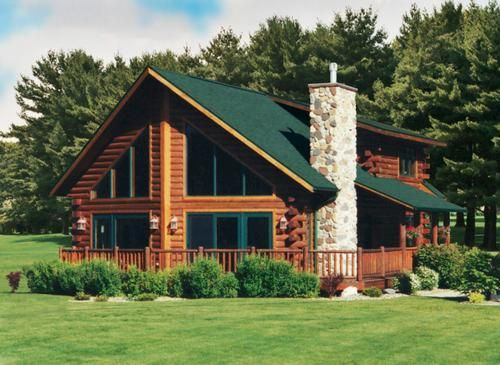 Plan Mvl 2842 Meadow View Set Of 1 Print At Menards Log Homes Exterior Log Home Plans House Exterior