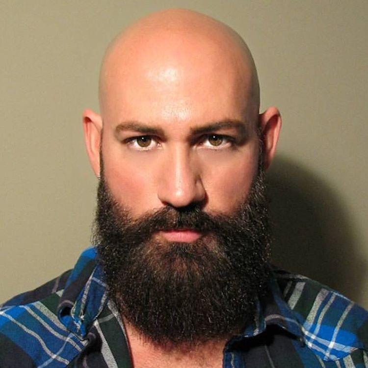 картинка лысый мужик с бородой было